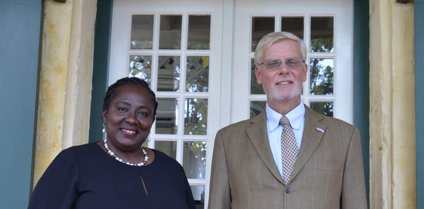 Government Commissioner Marnix Van Rij and Deputy Government Commissioner Ms. Alida Francis of St. Eustatius.