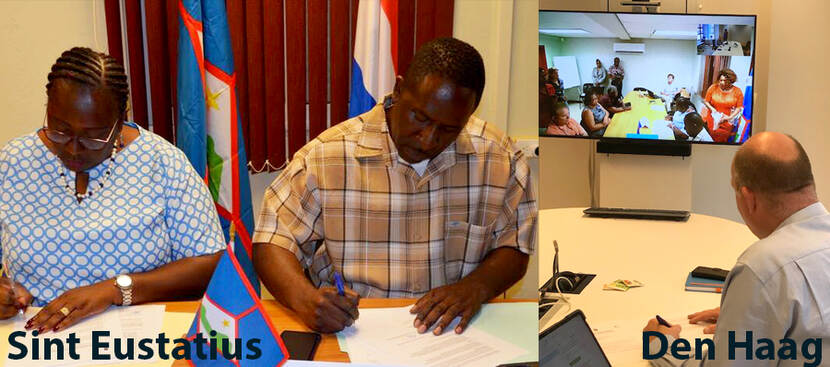 The Public Entity of Sint Eustatius (OLE), Sint Eustatius Health Care Foundation (SEHCF) and the Ministry of Health, Welfare and Sport (VWS) signed a joint declaration of intent.
