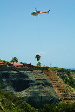 Stabilization works on the cliff supporting Fort Oranje